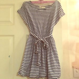 Blue and whit striped tunic